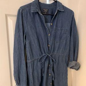 Last chance Button down jean dress